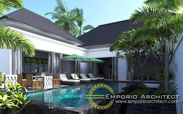 Desain Villa Style Villa Bali 1 Lantai Ibu Nadia di  Tangerang