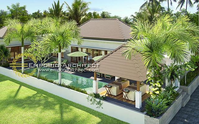 Desain Villa Style Villa Bali 1 Lantai Ibu Maryam di  Gianyar, Bali