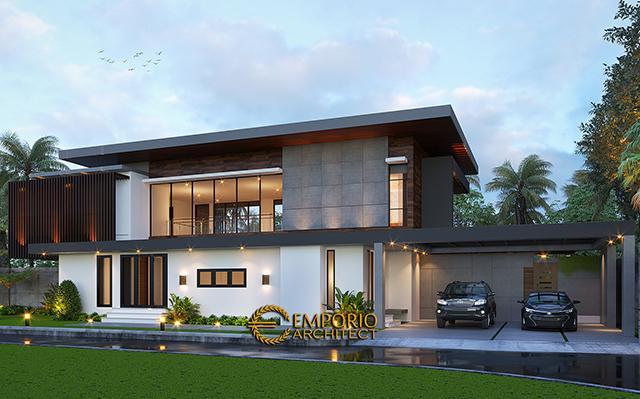 Mrs. Ista Modern Villa 2 Floors Design - Bogor