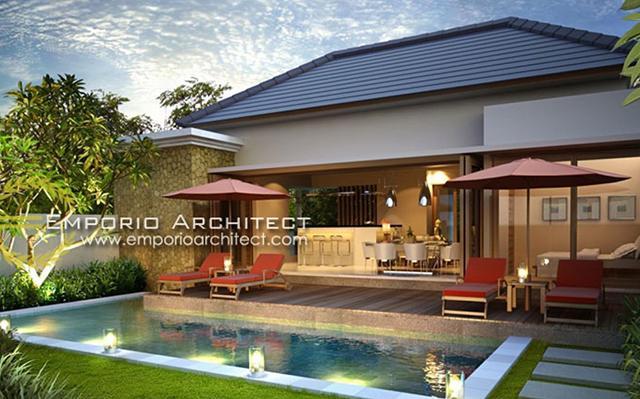 Desain Villa Style Villa Bali 1 Lantai Bapak Nyoman Setiawan di  Bali