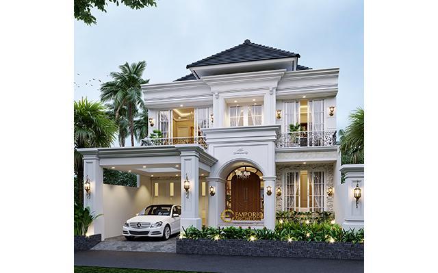 Desain Rumah Mediteran 2 Lantai Bapak Yoenanda di  Aceh