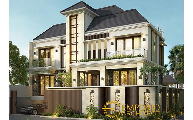 Desain Rumah Hook Villa Bali 3 Lantai Bapak Abdul di  Ambon, Maluku