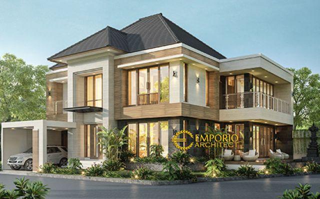 Desain Rumah Hook Modern 2 Lantai Bapak Kade Arnyana di  Badung, Bali