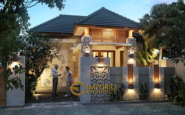 Desain Rumah Villa Bali 1 Lantai Bapak Ketut Atmajaya di  Pering, Ubud