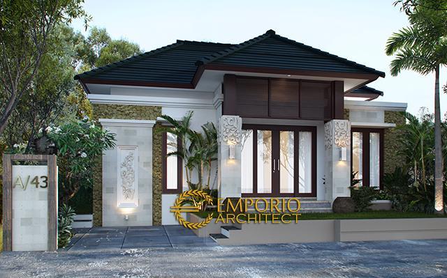 Desain Rumah Villa Bali 1 Lantai Ibu Dewi Tama di  Denpasar, Bali