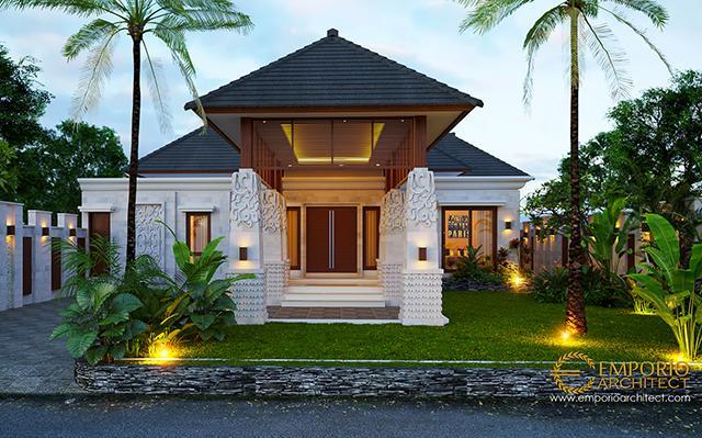 Desain Rumah Villa Bali 1 Lantai Bapak Malvin di  Balikpapan