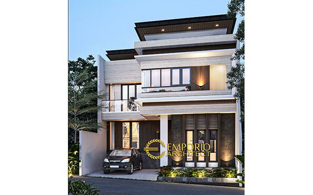 Desain Rumah Modern 3 Lantai Type A Bapak Laode di  Balikpapan, Kalimantan Timur