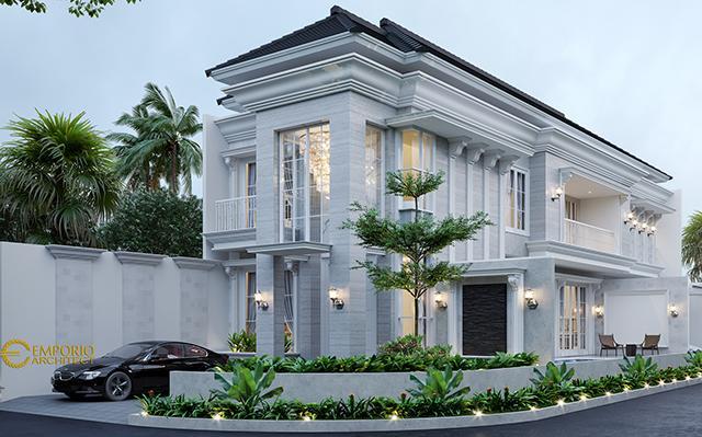 Desain Rumah Hook Classic 2 Lantai Bapak Aldi di  Bandung