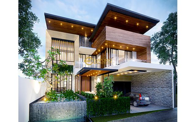 Mr. Indra Modern House 2 Floors Design - Bandung