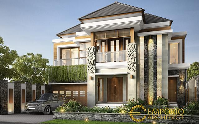 Desain Rumah Villa Bali 2 Lantai Ibu Dewi di  Bandung
