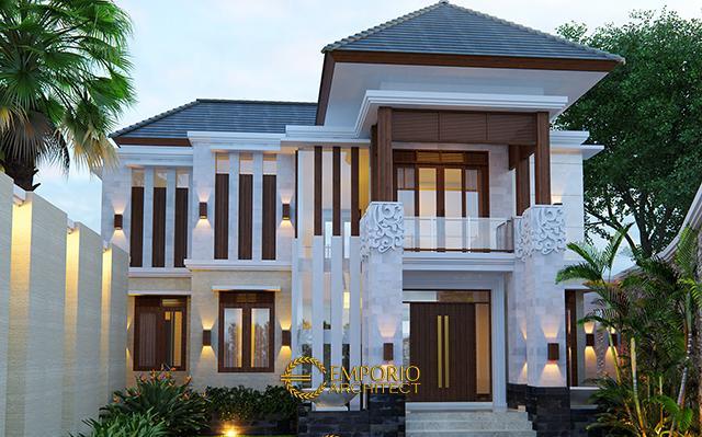 Desain Rumah Villa Bali 2 Lantai Ibu Tanti di  Bandung