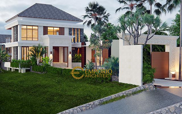 Desain Rumah Villa Bali 2 Lantai Ibu Winona di  Bandung