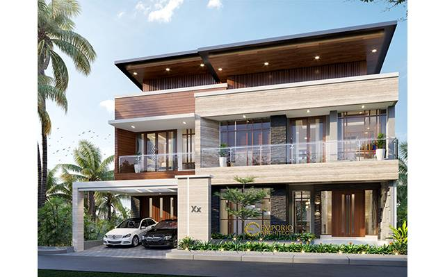 Desain Rumah Modern 3 Lantai Ibu Pauline di  Bandung, Jawa Barat