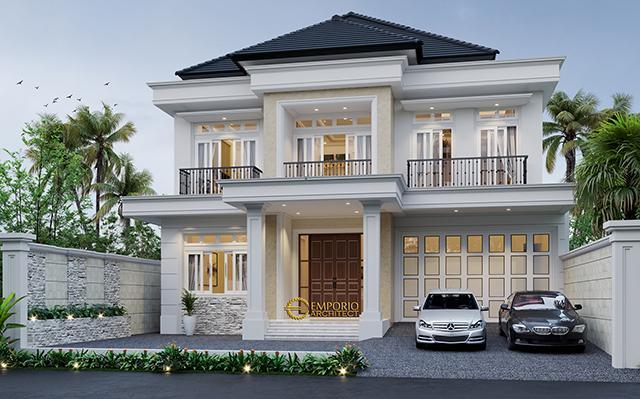 Desain Rumah Classic 2 Lantai Bapak Yogi di  Bandung, Jawa Barat