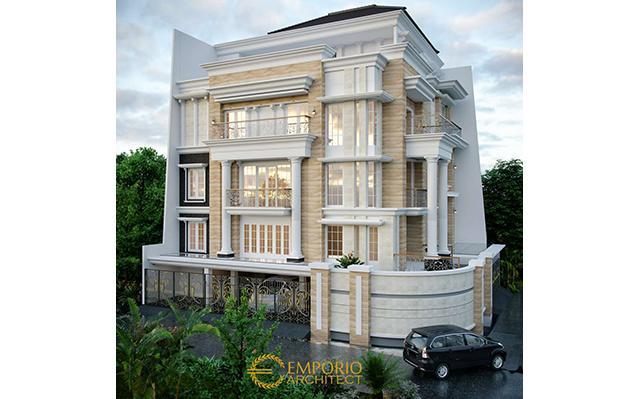 Desain Rumah Hook Classic 3.5 Lantai Bapak Sulaiman di  Bandung, Jawa Barat
