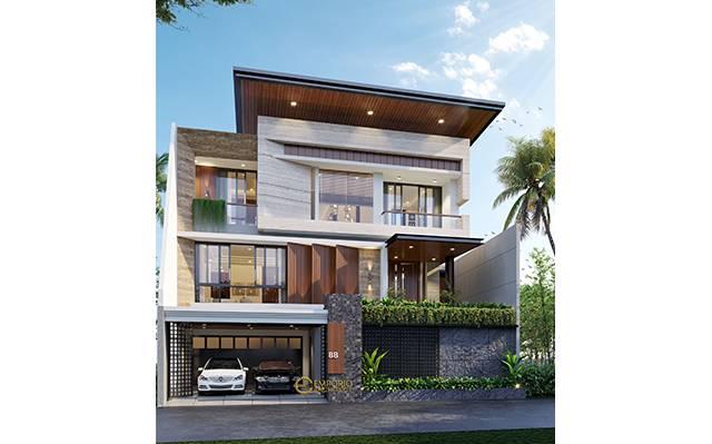 Desain Rumah Modern 3 Lantai Bapak Ruli di  Bandung, Jawa Barat