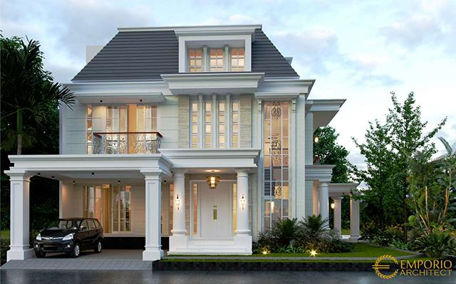Mr. Anas Classic House 2.5 Floors Design - Banten