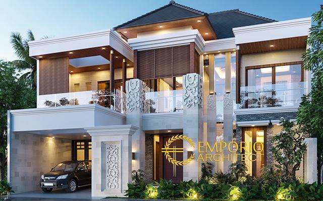 Desain Rumah Villa Bali 2 Lantai Bapak Warsa di  Bandung