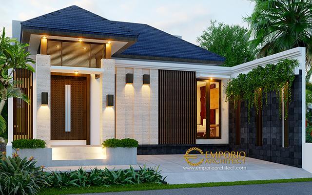 Desain Rumah Villa Bali 1 Lantai Bapak Bagus di  Bekasi