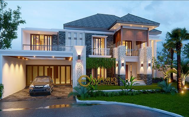 Desain Rumah Villa Bali 2 Lantai Bapak Budi di  Bekasi