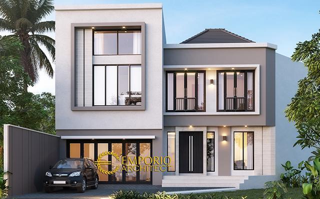 Desain Rumah Modern 2 Lantai Ibu Sandra di  Bekasi