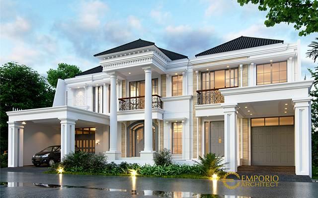Desain Rumah Classic 2 Lantai Bapak Tri di  Bekasi, Jawa Barat