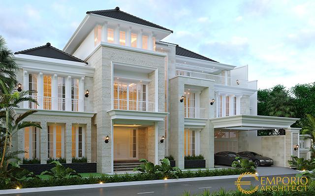 Desain Rumah Classic 3 Lantai Bapak Binsar di  Bekasi, Jawa Barat