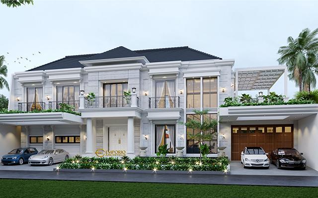 Desain Rumah Classic 2 Lantai Bapak Rusdi di  Bekasi, Jawa Barat