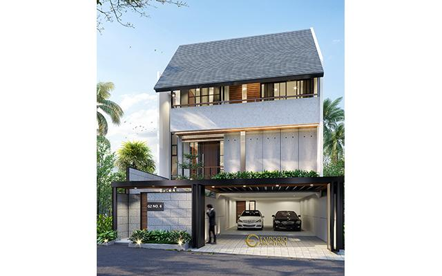 Desain Rumah Modern 3 Lantai Ibu Indri di  Bekasi, Jawa Barat
