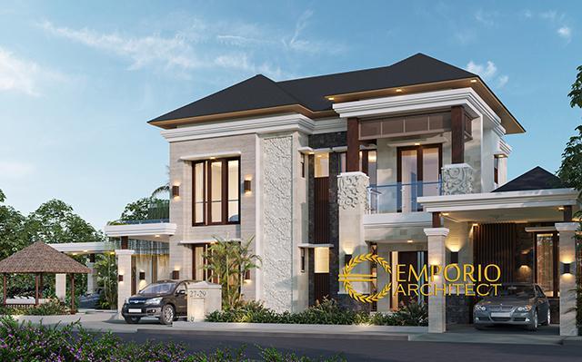 Desain Rumah Villa Bali 2 Lantai Bapak Novi di  Bekasi, Jawa Barat