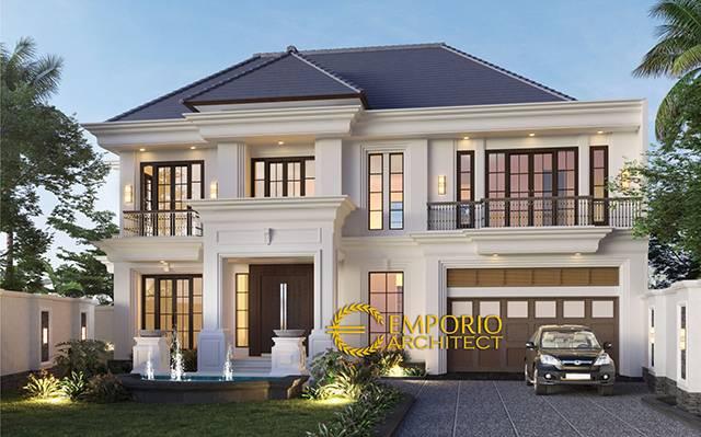 Desain Rumah Classic 2 Lantai Ibu Betty di  Bengkulu