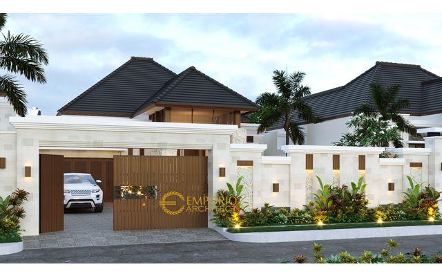 Desain Rumah Villa Bali 1 Lantai Ibu dr. Tunjung di  Bengkulu