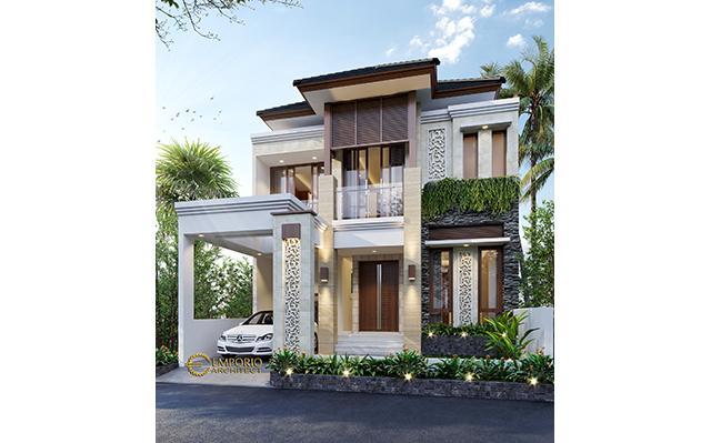 Desain Rumah Villa Bali 2 Lantai Bapak Indra di  Bintaro, Tangerang Selatan, Banten