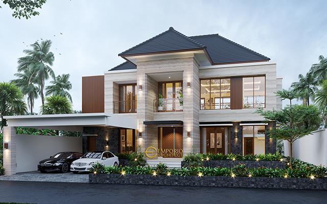 Desain Rumah Modern 2 Lantai Bapak Heri Agung di  Blora, Jawa Tengah