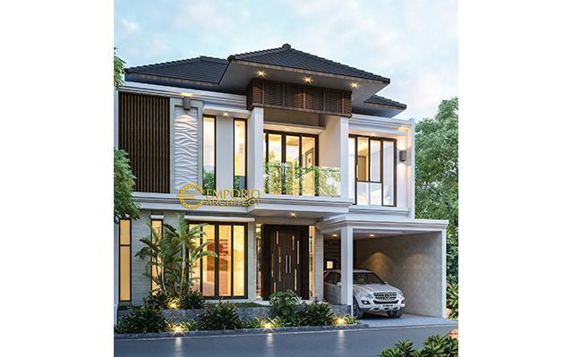 Desain Rumah Villa Bali 2 Lantai Bapak Rico di  Bogor