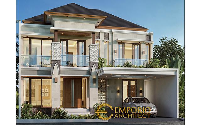 Desain Rumah Villa Bali 2 Lantai Bapak Hasan di  Bogor, Jawa Barat