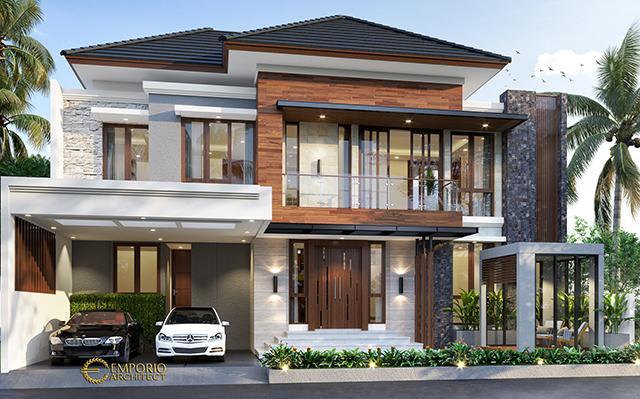 Desain Rumah Modern 2 Lantai Bapak Adi di  Bogor, Jawa Barat