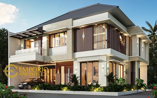 Desain Rumah Modern 2 Lantai Ibu Kiki di  Bogor, Jawa Barat