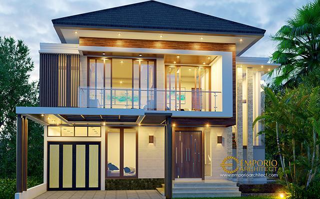 Desain Rumah Modern 2 Lantai Ibu Andika di  BSD, Tangerang, Banten