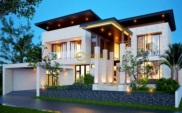 Desain Rumah Modern 2 Lantai Ibu Friska di  BSD, Tangerang, Banten