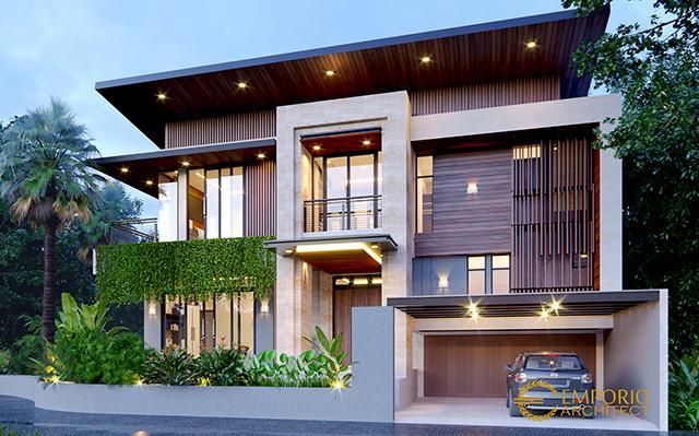 Desain Rumah Modern 3 Lantai Ibu Kayla di  BSD, Tangerang Selatan