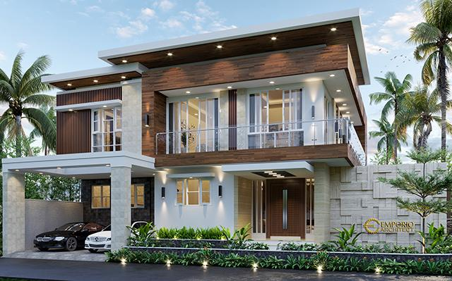 Mr. Taufiq Modern House 2 Floors Design - Bukittinggi, Sumatera Barat
