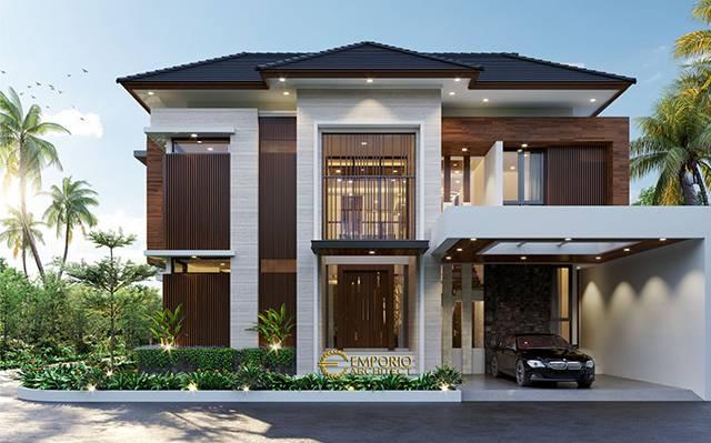 Desain Rumah Hook Modern 2.5 Lantai Bapak Khoiri di  Cibubur, Bekasi