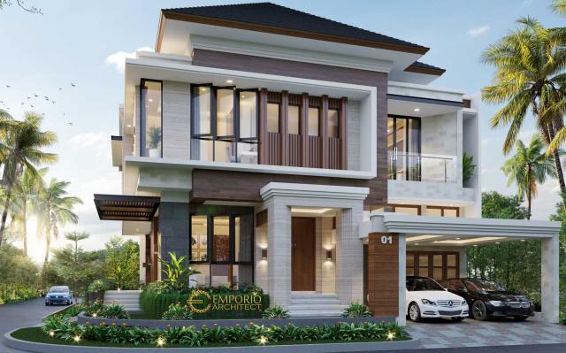Mr. Arief Villa Bali House 2. Floors Design - Cibubur, Jakarta Timur