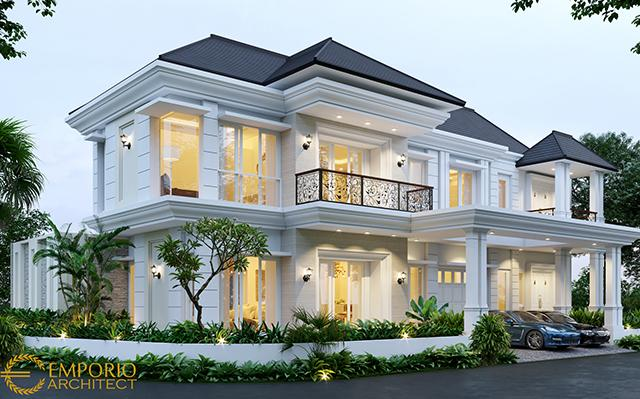 Desain Rumah Hook Classic 2 Lantai Bapak Suherman di  Cibubur, Jakarta Timur
