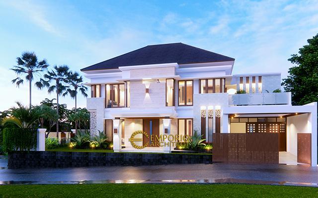 Desain Rumah Villa Bali 2 Lantai Ibu Indah di  Cibubur, Jakarta Timur
