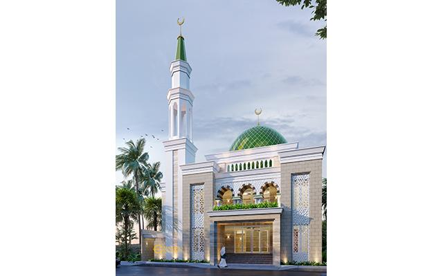 Mr. Nasrul Classic Mosque 2 Floors Design - Cikarang, Bekasi