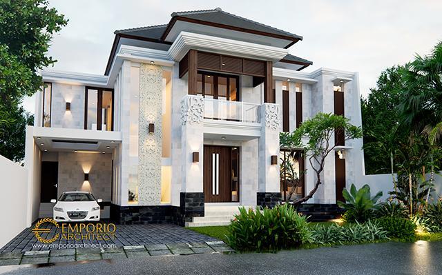 Desain Rumah Villa Bali 2 Lantai Bapak Andi di  Cikarang, Bekasi