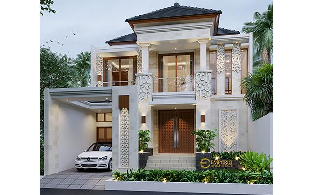 Desain Rumah Villa Bali 2 Lantai Ibu Lusi di  Cikarang, Bekasi