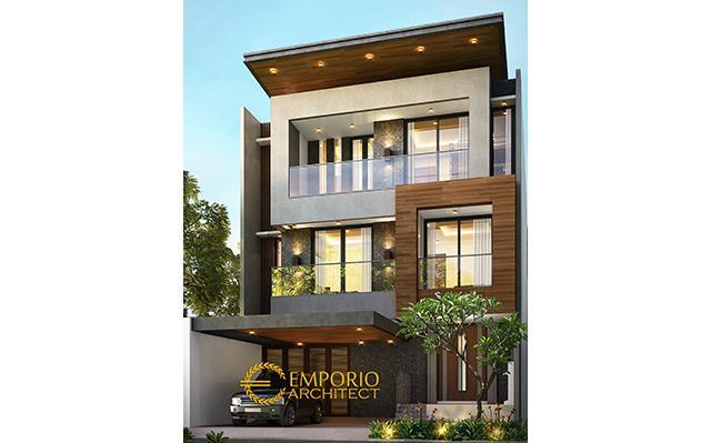 Desain Rumah Modern 4 Lantai Bapak Bima di  Cilangkap, Jakarta Timur